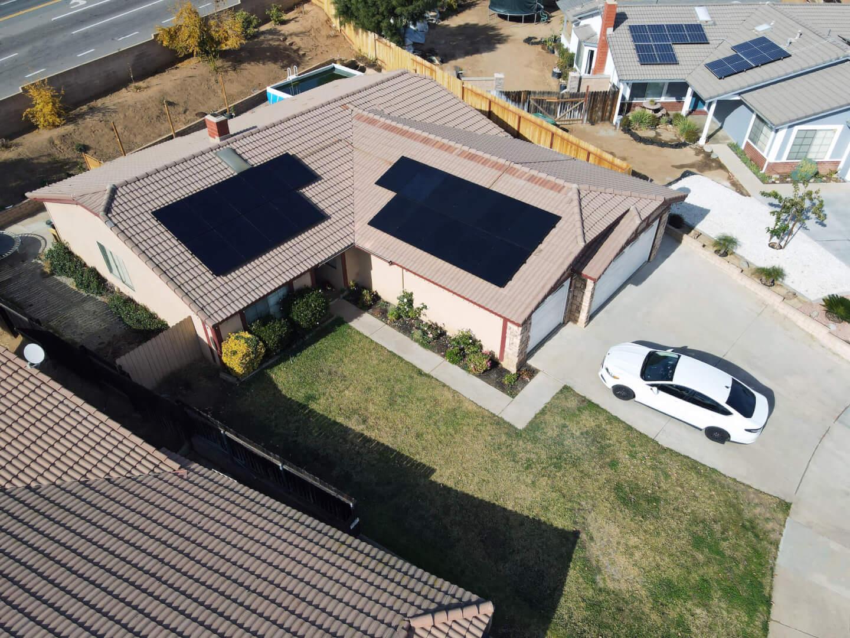 Solar Installation Drone Shot 15