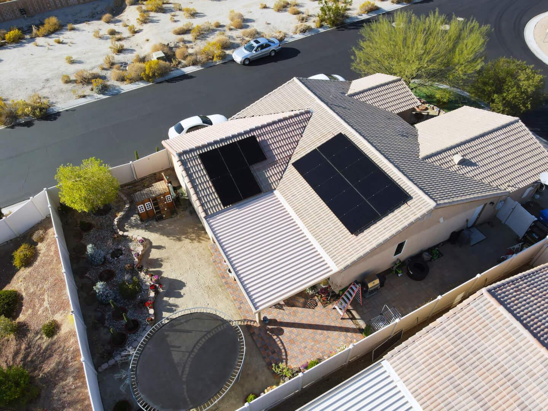 Solar Installation Drone Shot
